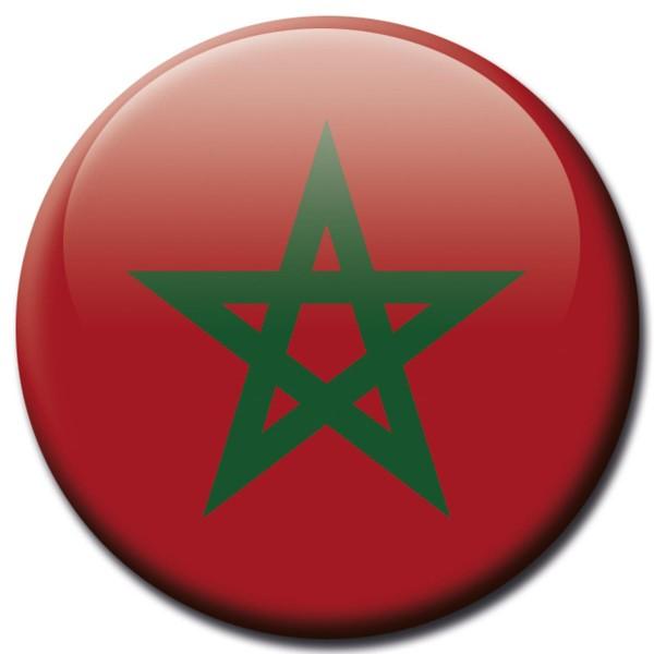 Flagge Marokko, Magnet 5 cm