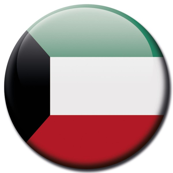 Flagge Kuwait, Magnet 5 cm