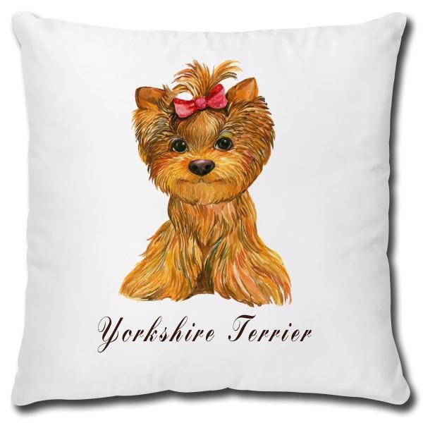 Yorkshire Terrier Hund, Kissen 40x40 cm