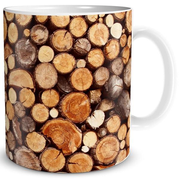 Baumstämme Holzstapel, Tasse 300 ml