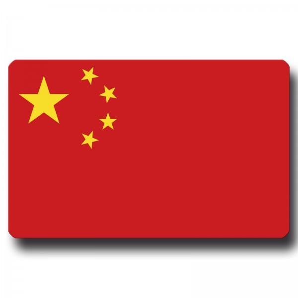 Flagge China, Magnet 8,5x5,5 cm