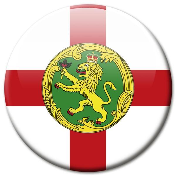 Flagge Alderney, Magnet 5 cm