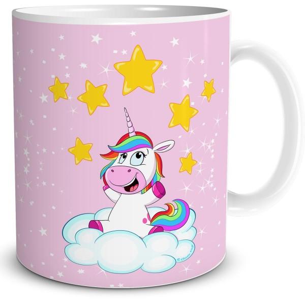 Einhorn Stern Spieler, Tasse 300 ml, Rosa