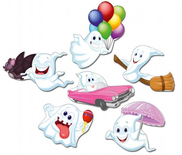 """Gespenster """"Happy Ghosts"""", Kühlschrankmagnete 6er-Set"""