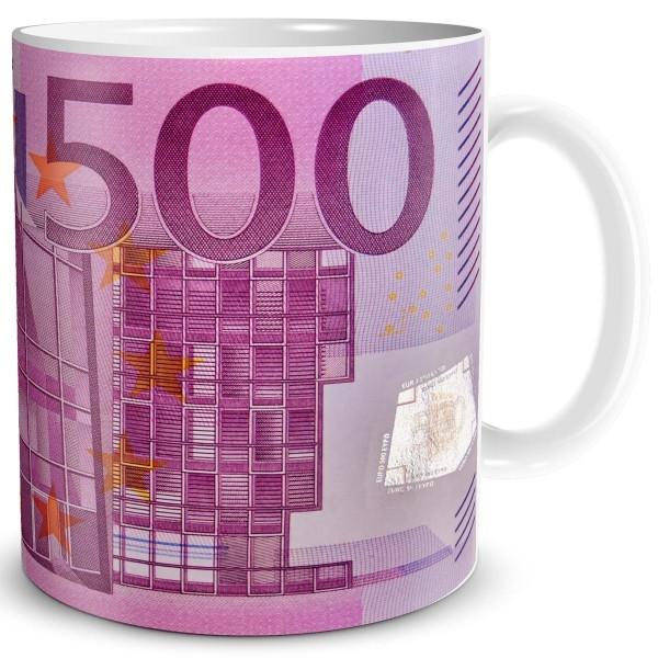 Geldschein 500 EUR, Tasse 300 ml