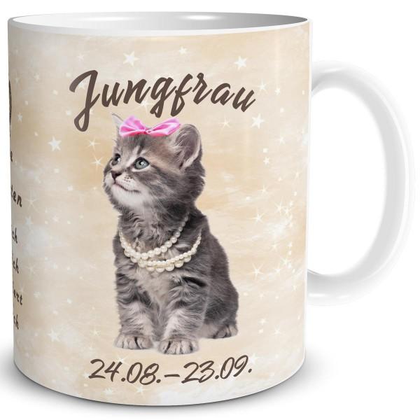 Sternzeichen Jungfrau Katze, Tasse 300 ml