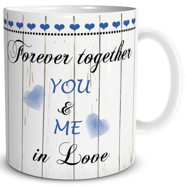 Forever Together You & Me, Tasse 300 ml, Blau
