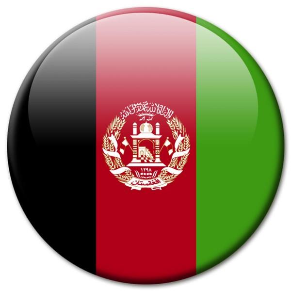 Flagge Afghanistan, Magnet 5 cm