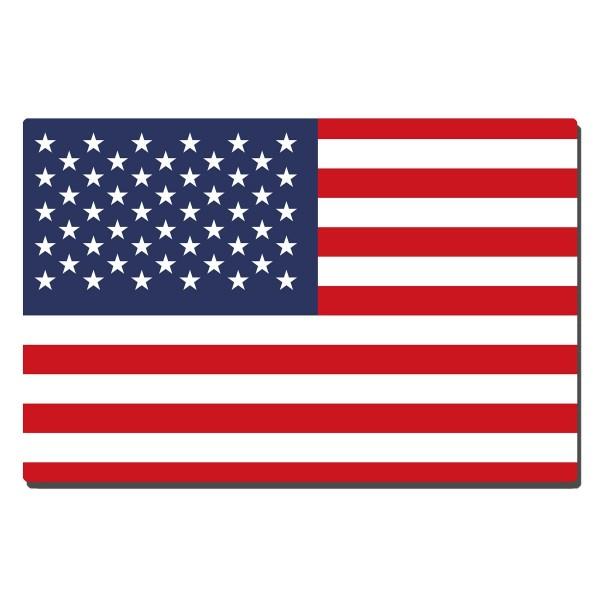 USA Flagge, Blechschild 20x30 cm