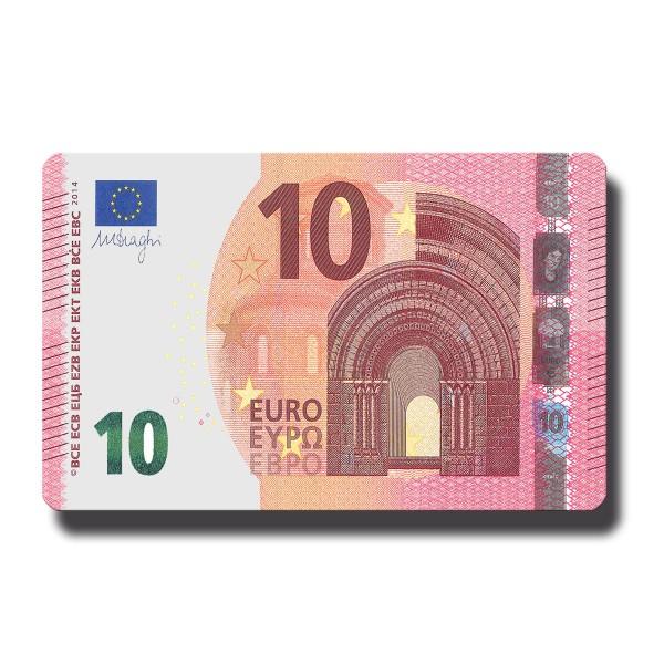 10 Euroschein, Geldschein Magnet 8,5x5,5 cm