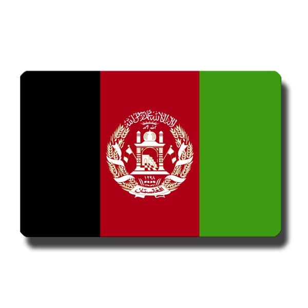 Flagge Afghanistan, Magnet 8,5x5,5 cm
