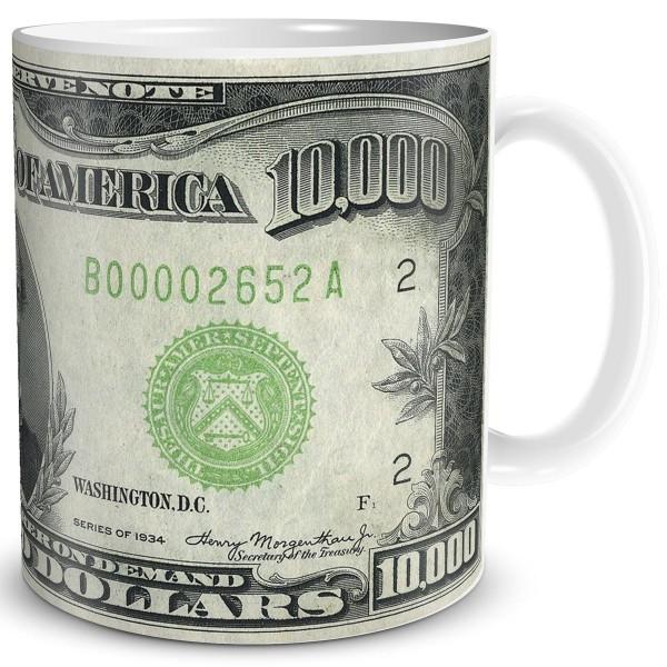 Geldschein 10000 Dollar, Tasse 300 ml