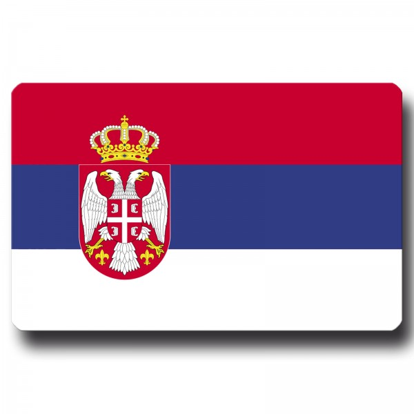 Flagge Serbien, Magnet 8,5x5,5 cm