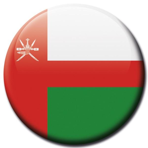 Flagge Oman, Magnet 5 cm