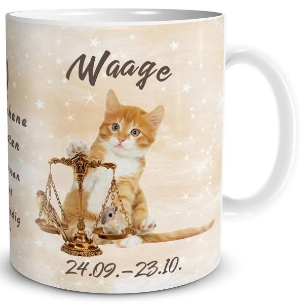 Sternzeichen Waage Katze, Tasse 300 ml