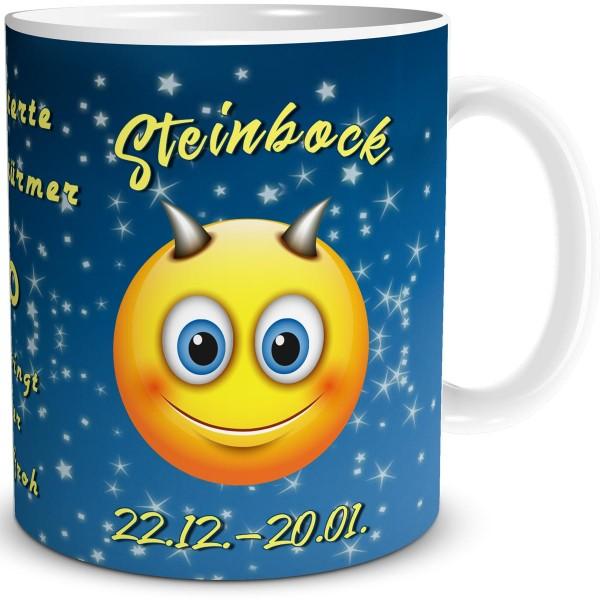 Sternzeichen Steinbock Smiley, Tasse 300 ml