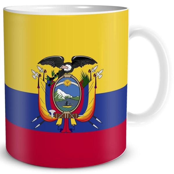 Flagge Ecuador, Tasse 300 ml
