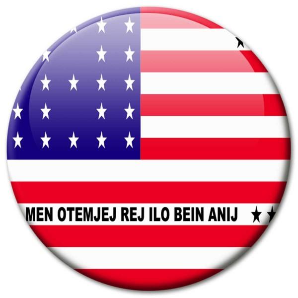 Flagge Bikini-Atoll, Magnet 5 cm