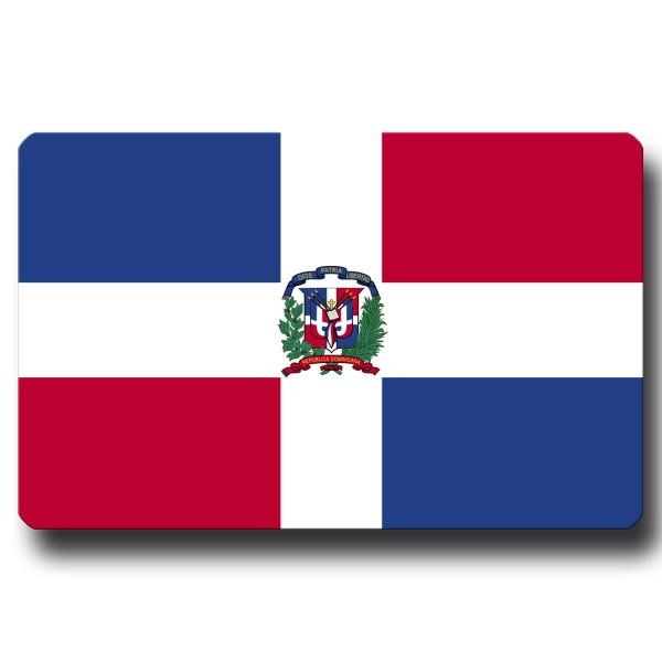 Flagge Dominikanische Republik, Magnet 8,5x5,5 cm