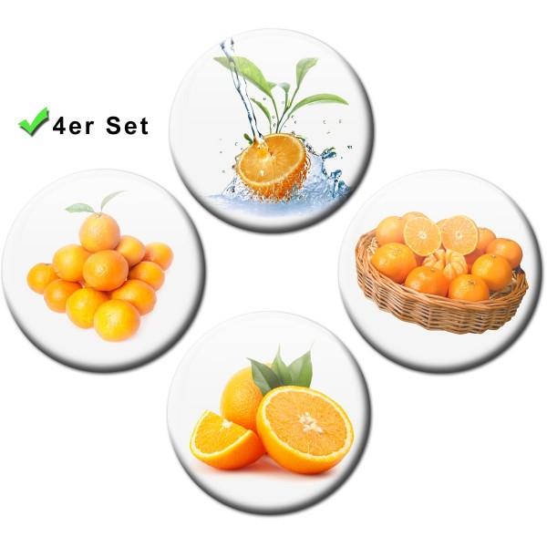 Magnete 4er-Set Orangen - Ø 5 cm