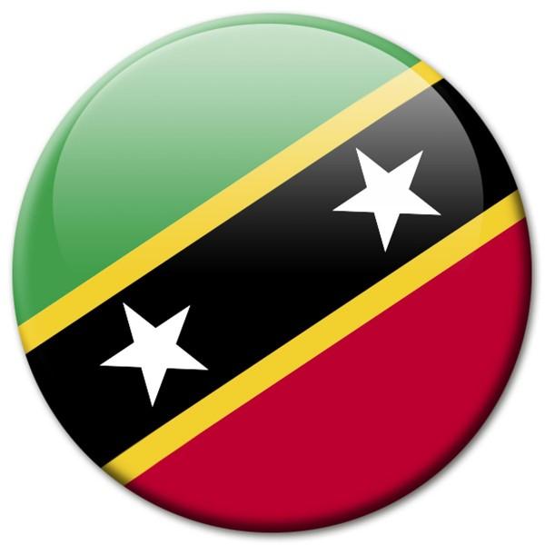Flagge Sankt Kitts, Magnet 5 cm