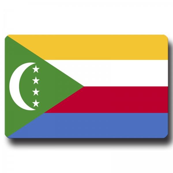 Flagge Komoren, Magnet 8,5x5,5 cm