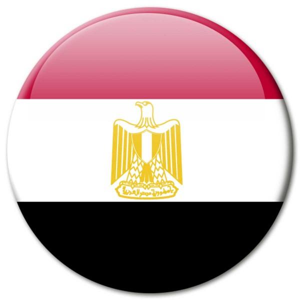 Flagge Ägypten, Magnet 5 cm