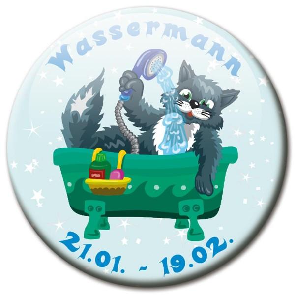 Magnet Katze - Sternzeichen Wassermann - Ø 5 cm