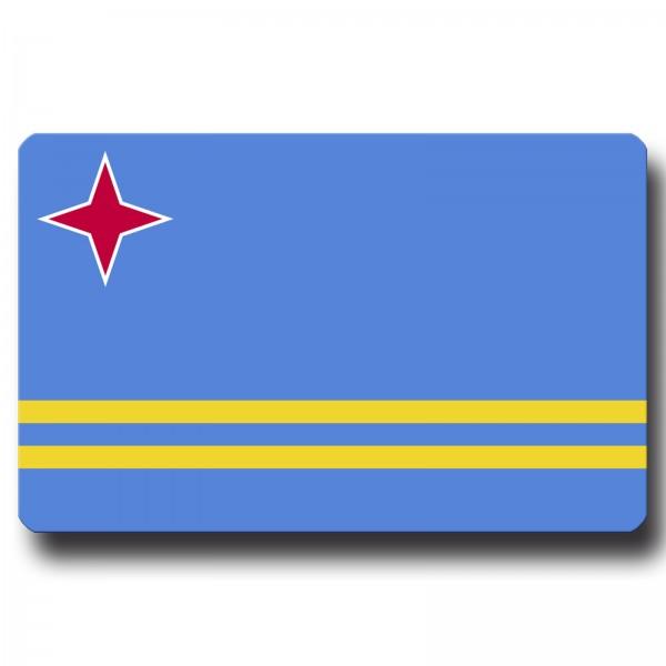 Flagge Aruba, Magnet 8,5x5,5 cm