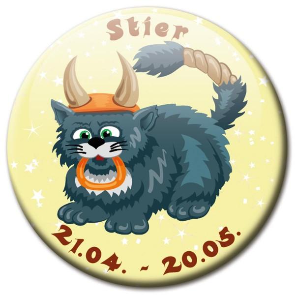 Magnet Katze - Sternzeichen Stier - Ø 5 cm