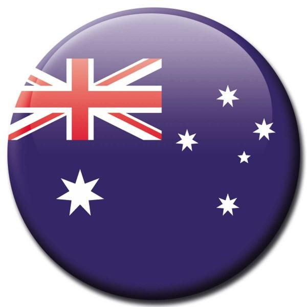 Flagge Australien, Magnet 5 cm