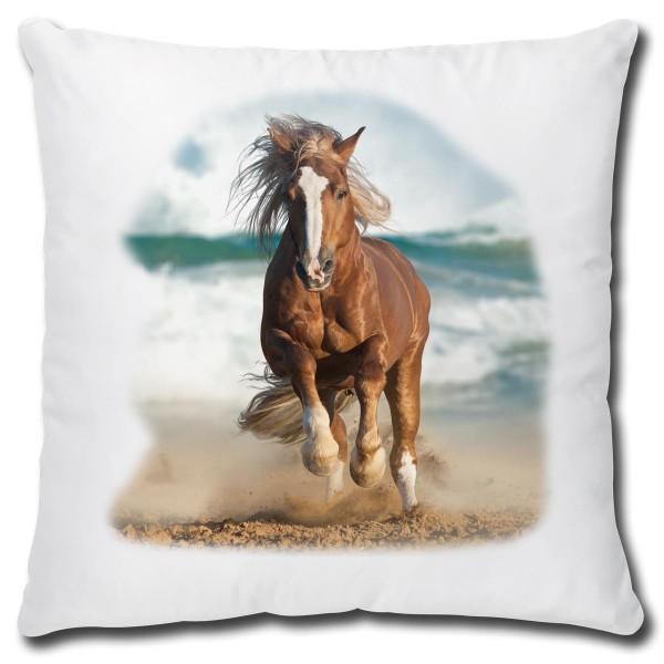 Pferd am Meer, Kissen 40x40 cm