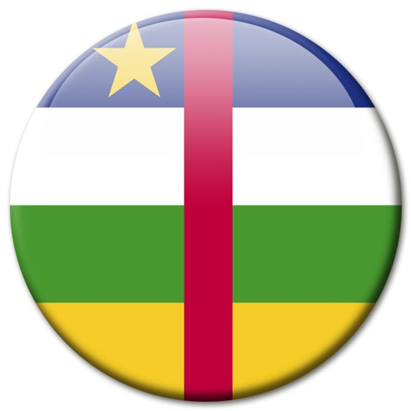 Flagge Zentralafrika, Magnet 5 cm