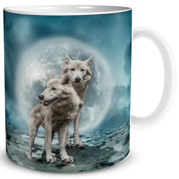 Nebel Wölfe, Fantasy Tasse 300 ml