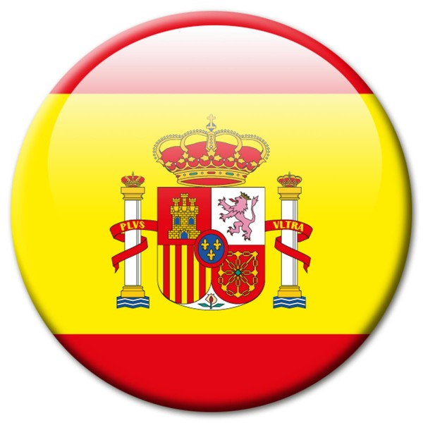 Flagge Spanien, Magnet 5 cm