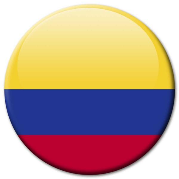 Flagge Kolumbien, Magnet 5 cm