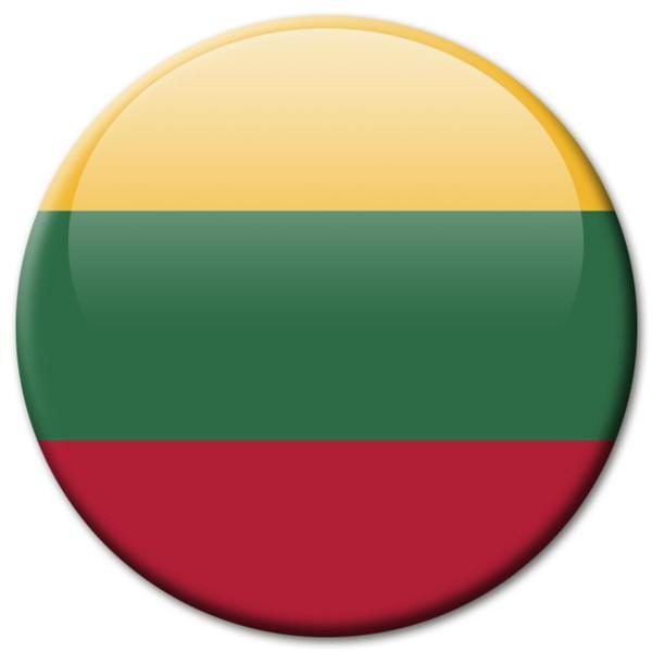 Flagge Litauen, Magnet 5 cm