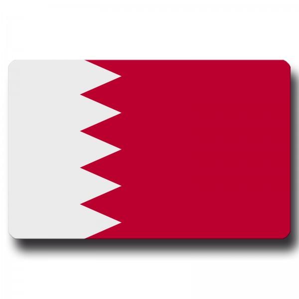 Flagge Bahrain, Magnet 8,5x5,5 cm