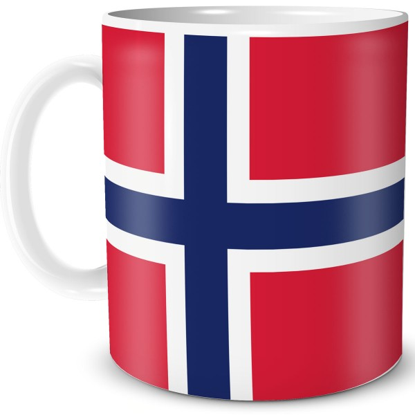 Flagge Norwegen, Tasse 300 ml