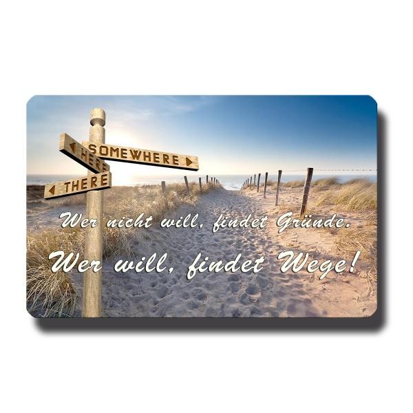 Strand Wegweiser, Magnet 8,5x5,5 cm
