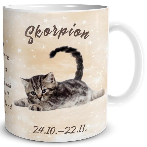 Sternzeichen Skorpion Katze, Tasse 300 ml