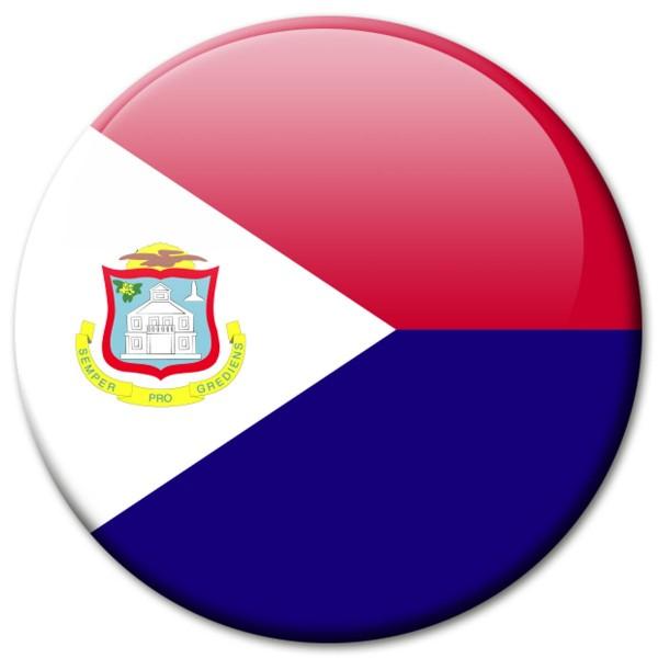 Flagge Sankt Martin, Magnet 5 cm