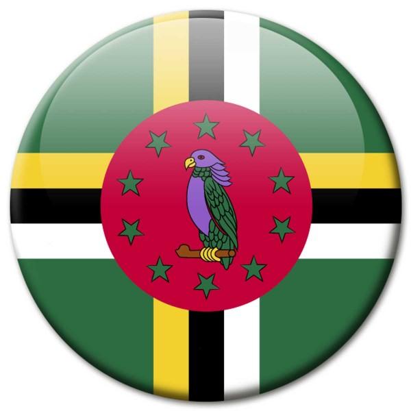 Flagge Dominica, Magnet 5 cm
