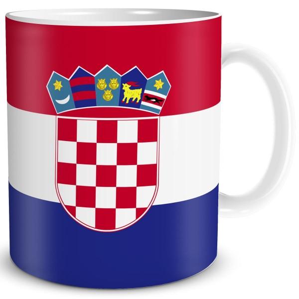 Flagge Kroatien, Tasse 300 ml