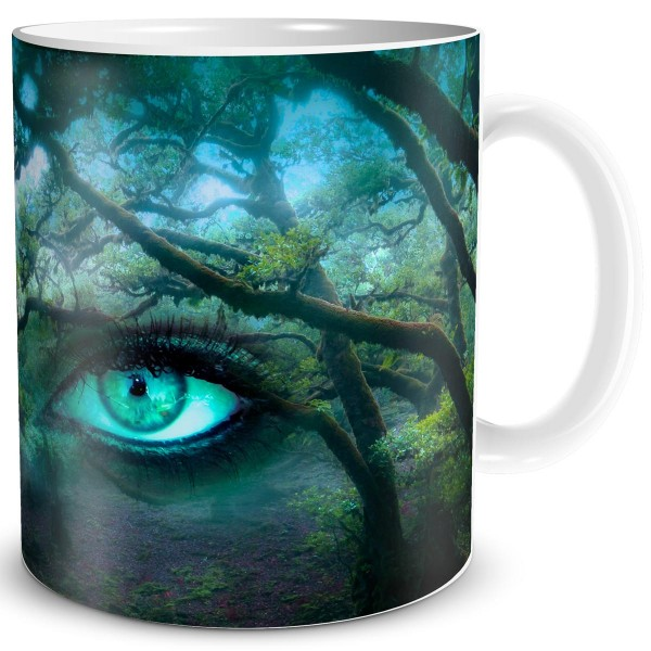 Waldaugen Green Eyes, Fantasy Tasse 300 ml