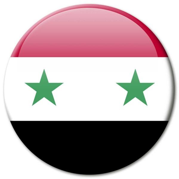 Flagge Syrien, Magnet 5 cm