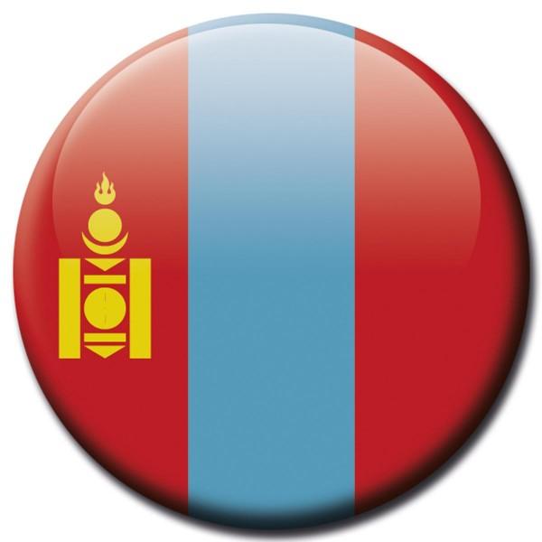 Flagge Mongolei, Magnet 5 cm