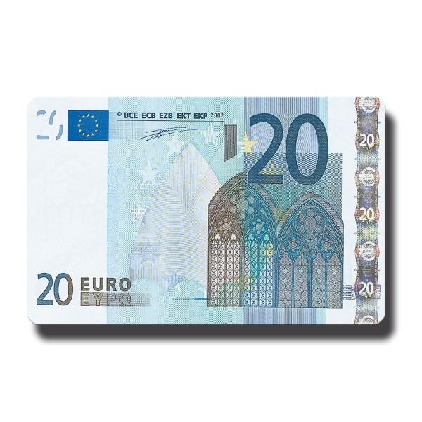20 Euroschein, Geldschein Magnet 8,5x5,5 cm