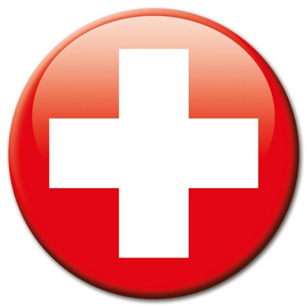 Flagge Schweiz, Magnet 5 cm