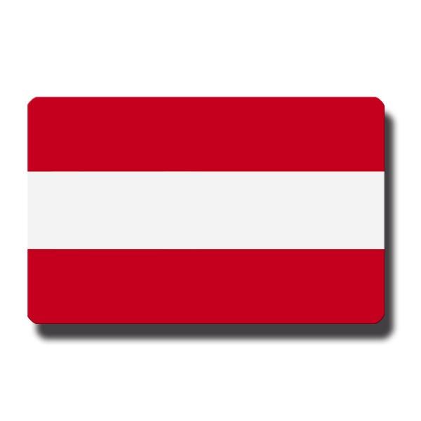 Flagge Österreich, Magnet 8,5x5,5 cm